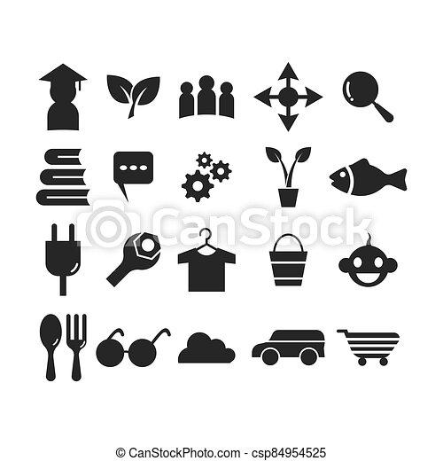 ábra, állhatatos, vektor, ikon, jelkép - csp84954525