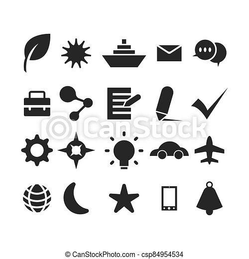 ábra, állhatatos, vektor, ikon, jelkép - csp84954534