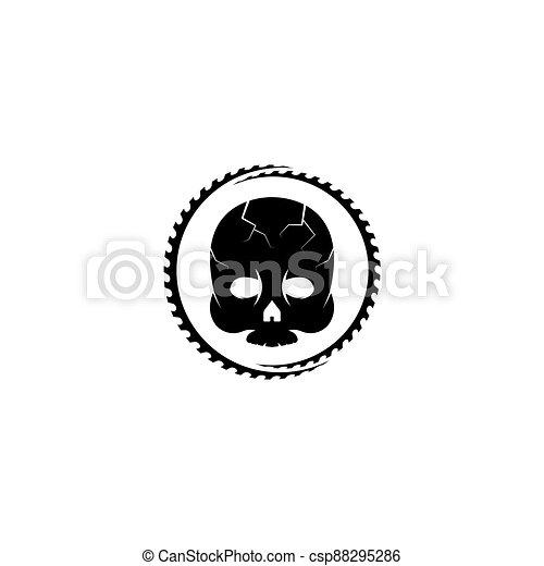 ábra, koponya, vektor, jel - csp88295286