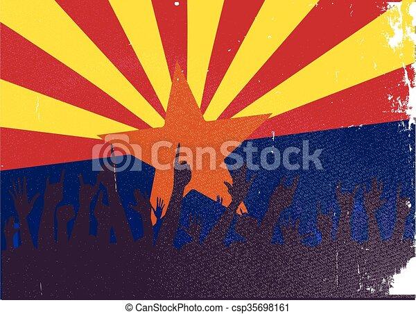 állam, arizona lobogó, kihallgatás - csp35698161