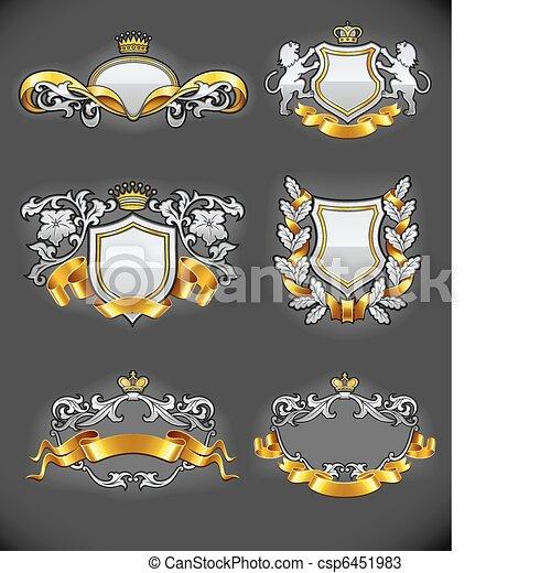 állhatatos, arany, szüret, címertani, emblémák, ezüst - csp6451983