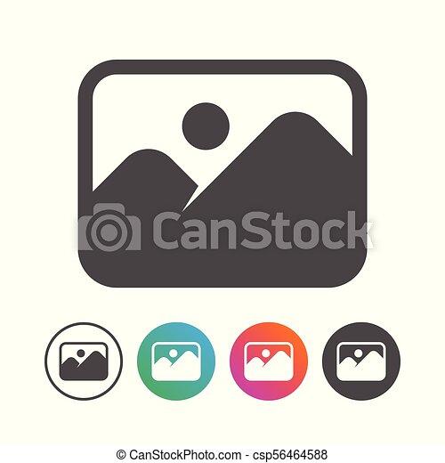 állhatatos, egyszerű, jelkép, tervezés, táj, ikon - csp56464588