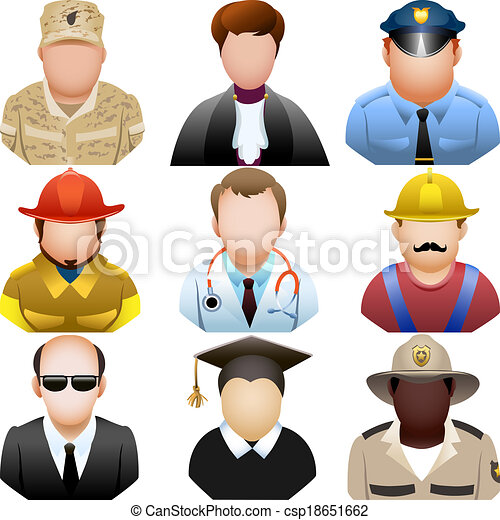 állhatatos, emberek, ikon, egyenruha - csp18651662