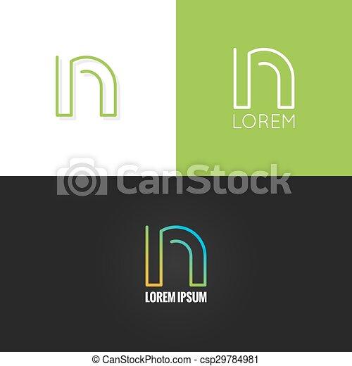 állhatatos, háttér, abc, észak, tervezés, levél, jel, ikon - csp29784981