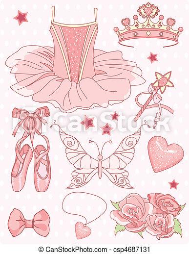 állhatatos, hercegnő, balerina - csp4687131