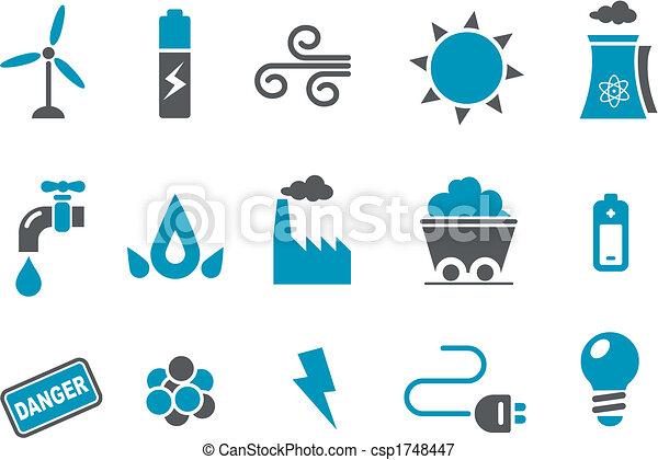 állhatatos, ikon, energia - csp1748447