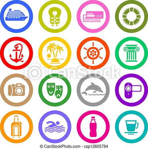 állhatatos, &, ikonok, szünidő utazik, pihenés - csp12605784