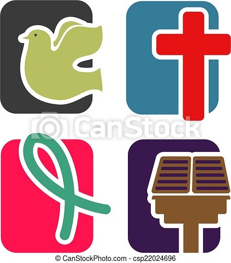 állhatatos, keresztény, ikon - csp22024696