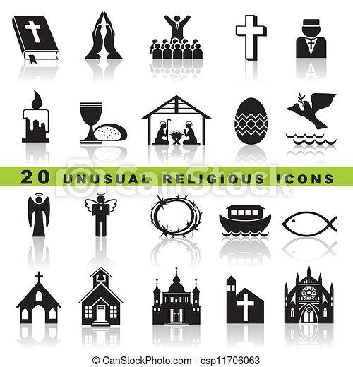 állhatatos, keresztény, ikonok - csp11706063