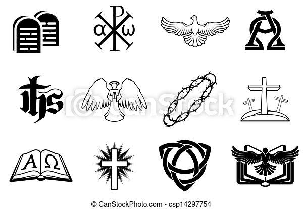 állhatatos, keresztény, ikonok - csp14297754