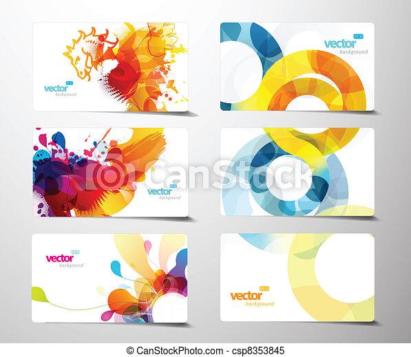 állhatatos, színes, tehetség, elvont, loccsanás, kártya. - csp8353845