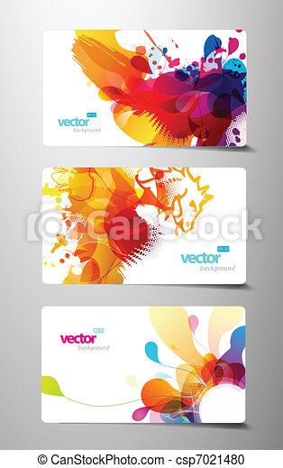 állhatatos, színes, tehetség, elvont, loccsanás, kártya. - csp7021480
