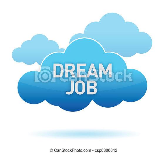 álmodik, munka, tervezés, felhő, ábra - csp8308842