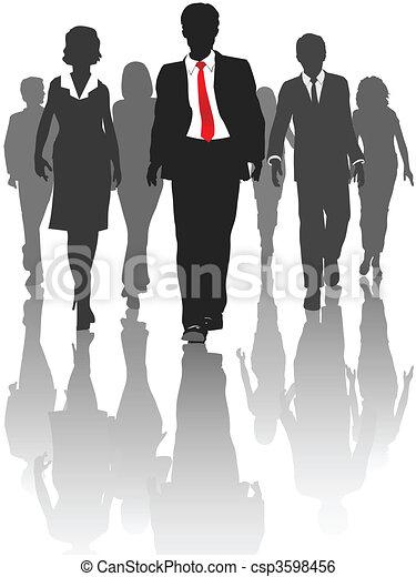 árnykép, ügy emberek, jár, emberi találékonyság - csp3598456