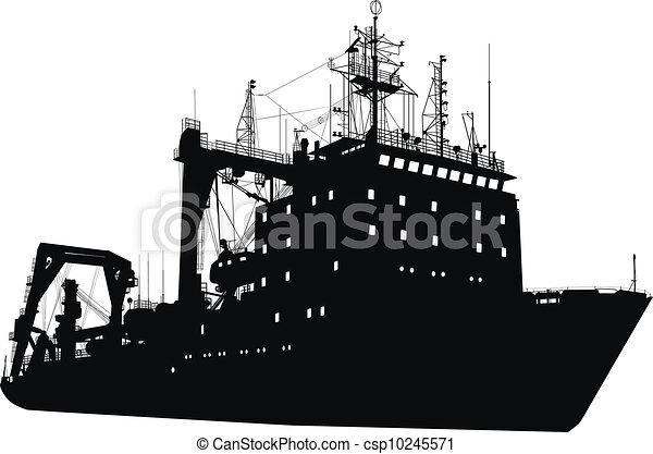 árnykép, hajó - csp10245571