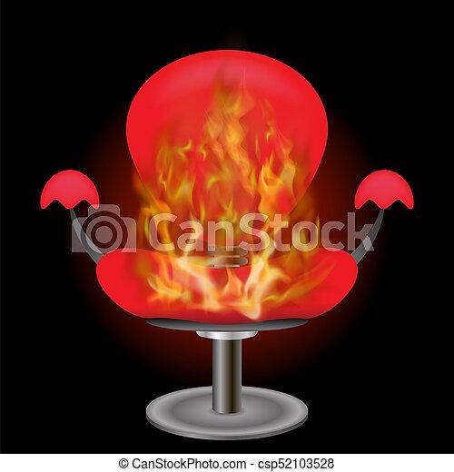 égető, elbocsát, karosszék, láng, háttér, piros - csp52103528