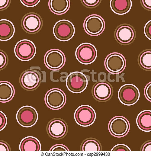 ékezetez, barna, rózsaszínű, polka - csp2999430