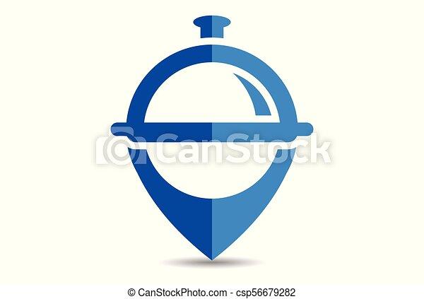 élelmiszer, jel, elhelyezés, étterem - csp56679282