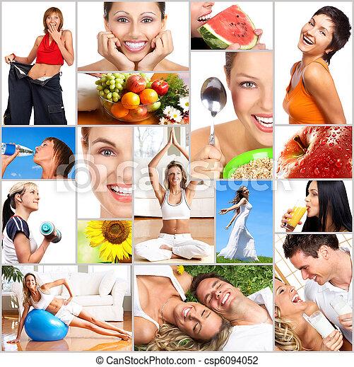 életmód, egészséges - csp6094052