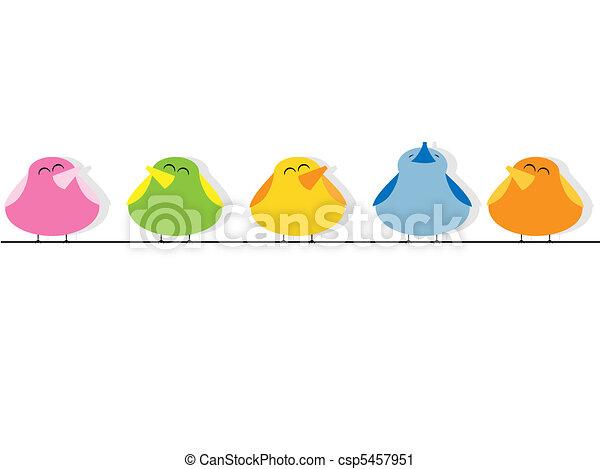 éneklés, madarak - csp5457951