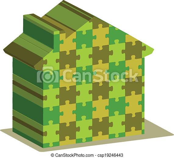 épület, rejtvény - csp19246443