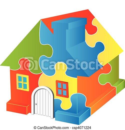 épület, rejtvény - csp4071224
