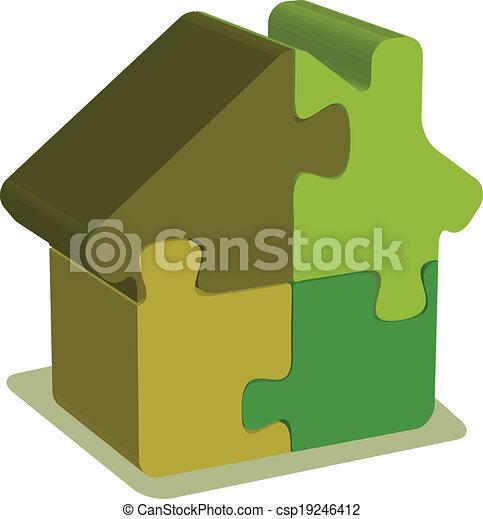 épület, rejtvény - csp19246412