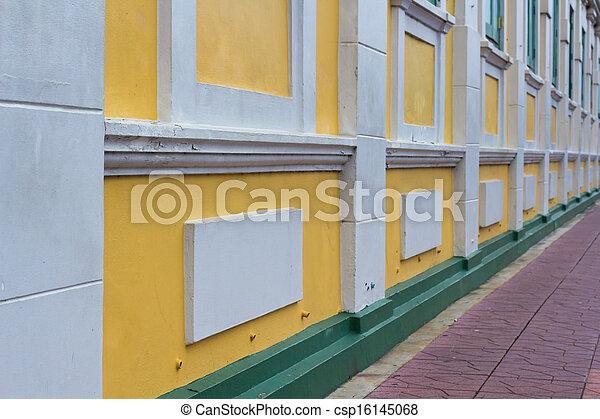 épület, sárga - csp16145068