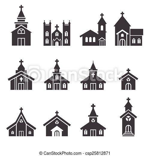 épület, templom, ikon - csp25812871