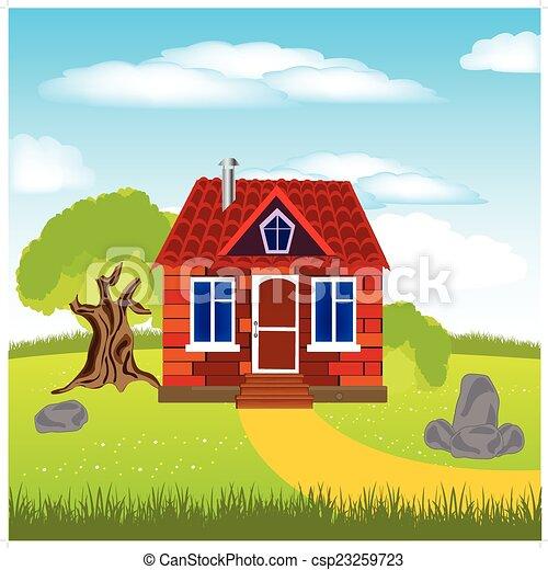 épület, tisztás - csp23259723