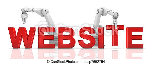 épület, website, ipari, szó, fegyver, robotic - csp7652794