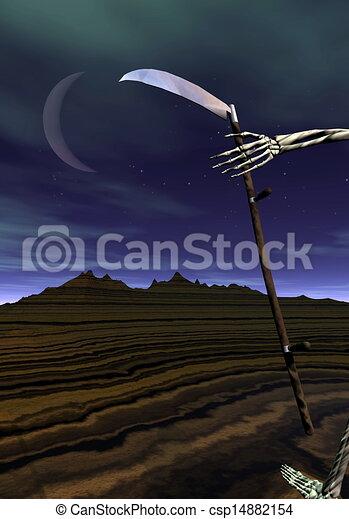 érkező, halál, -, render, 3 - csp14882154