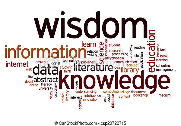értesülés, szó, tudás, bölcsesség, adatok, felhő - csp20722715