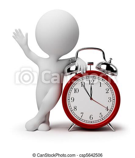 óra, ijedtség, emberek, -, kicsi, 3 - csp5642506
