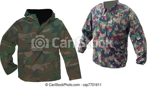 öltözet, álcáz - csp7701611