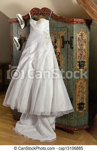 öltözködik cipő, esküvő - csp13106885