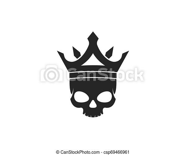 ördög, vektor, tervezés, koponya, ábra - csp69466961