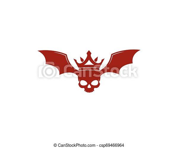 ördög, vektor, tervezés, koponya, ábra - csp69466964