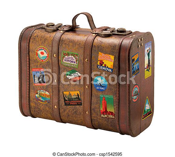 öreg, utazás, szabad, bőrönd, royaly, böllér - csp1542595