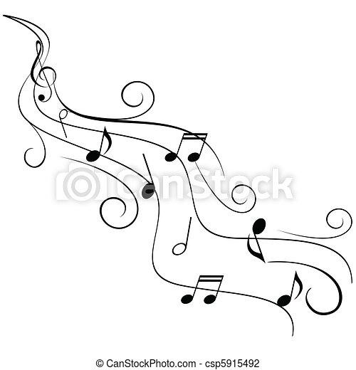 örvény, bever, hangjegy, zene - csp5915492