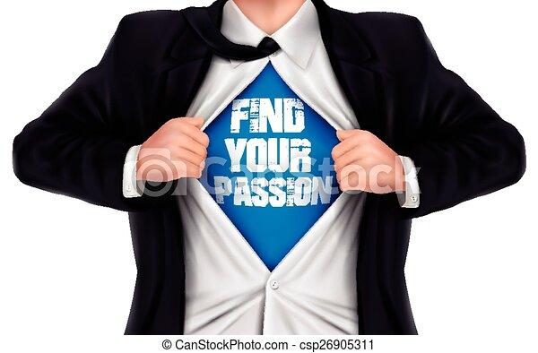 övé, ing, kiállítás, talál, alul, indulat, szavak, üzletember, -e - csp26905311