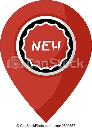 új, jelkép, elhelyezés - csp42593857