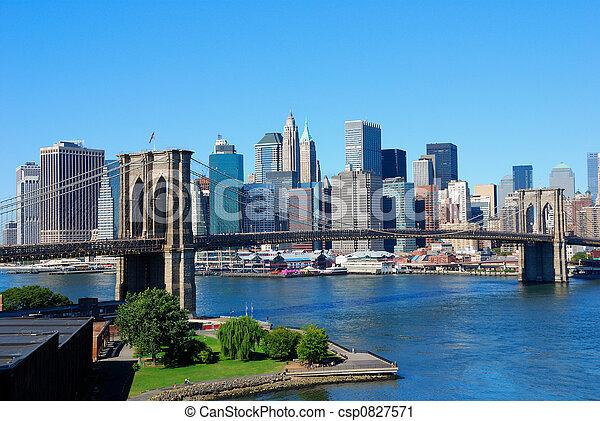 új, láthatár, york, város - csp0827571