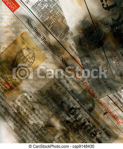 újság, megégett, mosakszik - csp9148430