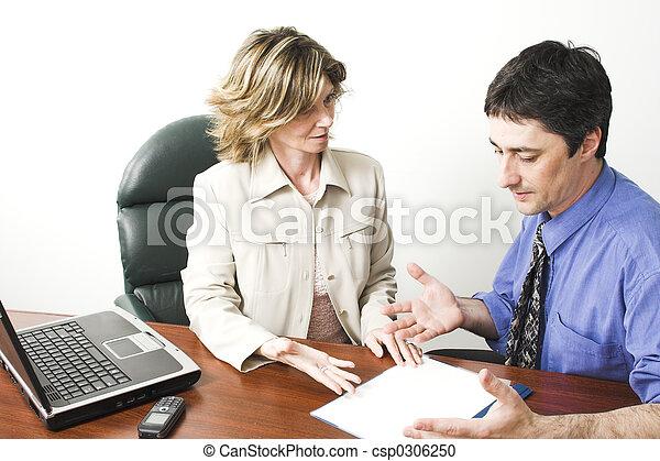 ügy, dolgozó, befog - csp0306250