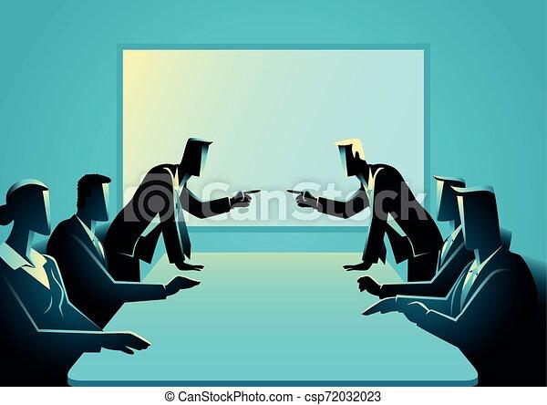ügy emberek, szoba, gyűlés, megvitat - csp72032023