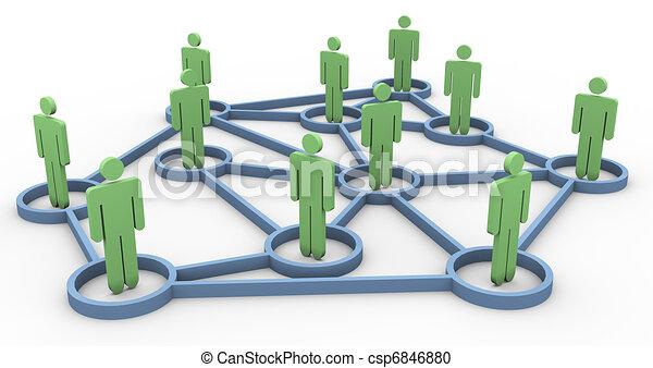 ügy, hálózat, közösség, 3 - csp6846880