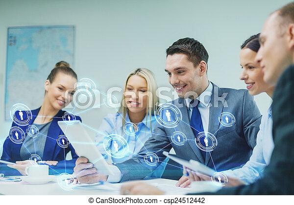 ügy, tabletta, vita, számítógép, befog, birtoklás - csp24512442