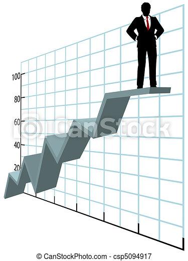 ügy, tető feláll, diagram, növekedés, társaság, ember - csp5094917