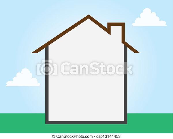 üres, épület, áttekintés - csp13144453